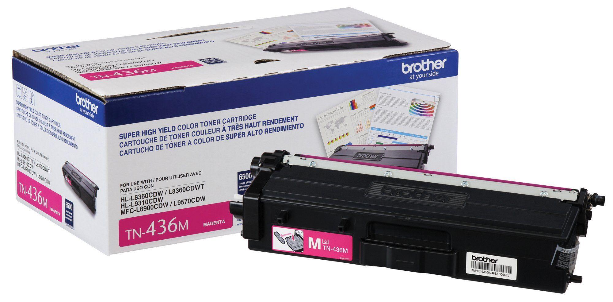 Brother Genuine Super High Yield Toner Cartridge TN436M