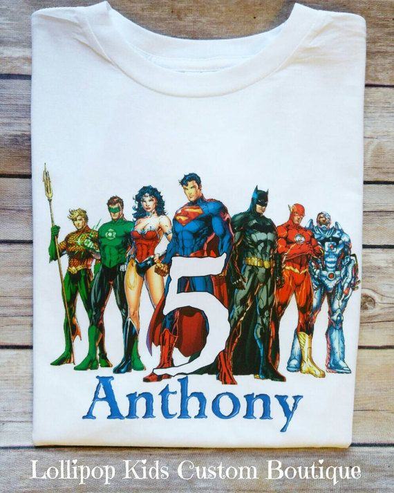 Justice LeagueBirthday White Short Sleeve Shirt