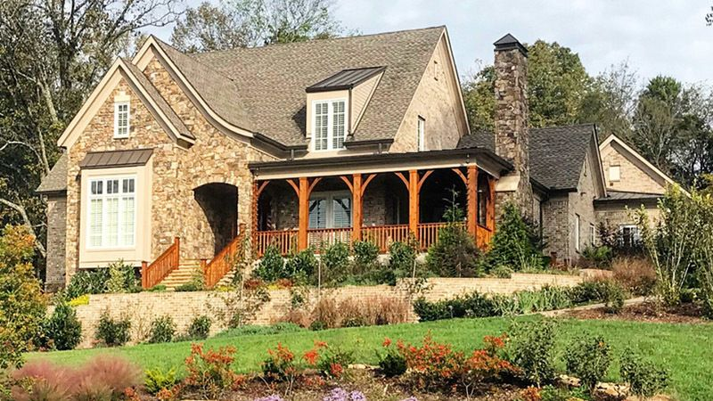 Sl1561 Exterior Right Southern Living House Plans Craftsman Home Exterior Southern House Plans