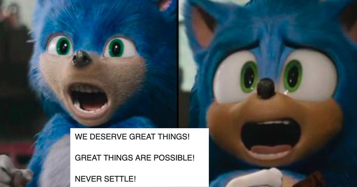 Aw Yeah People Finally Like The New Sonic The Hedgehog Design Sonic The Hedgehog Sonic Hedgehog Movie