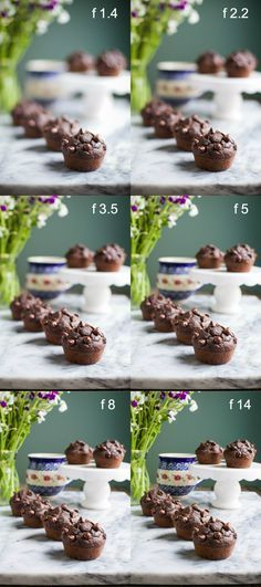 Aperture stitch for food photography