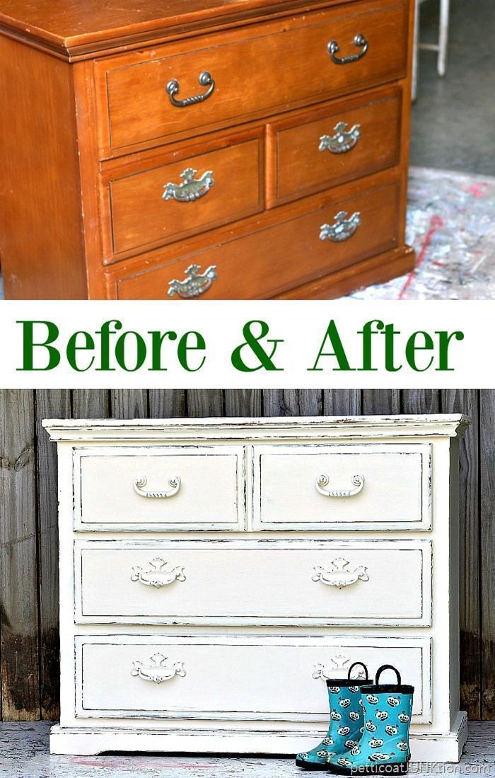 How To Distress White Furniture - Petticoat Junktion