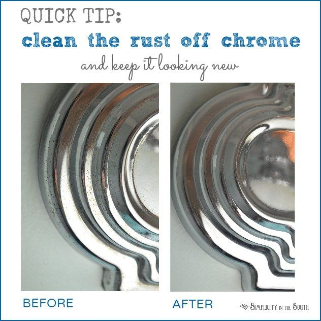 The Secret For Getting Chrome Bathroom Light Fixtures And Shower Curtain Rods Clean Preventing Rust