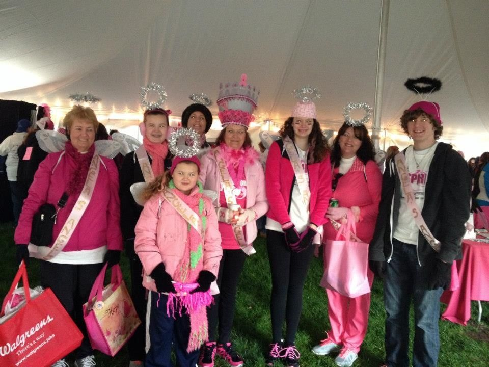 """Team """"Angela's Angels"""" Race For the Cure 2013..."""