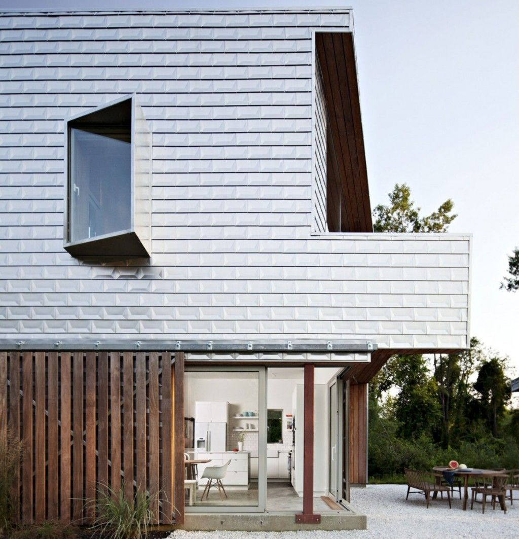 Aluminium Clad House Exterior With Floating Glass Windows And ...