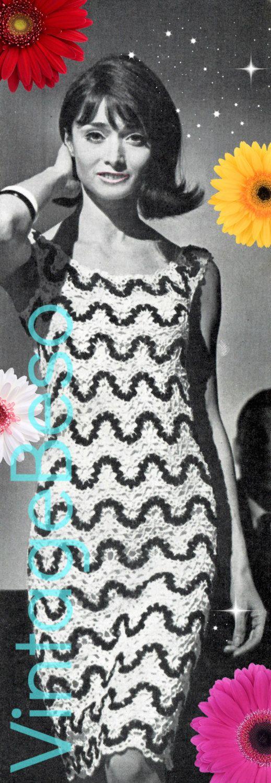 Instant Download Pdf Pattern Rick Rack Dress Crochet Pattern
