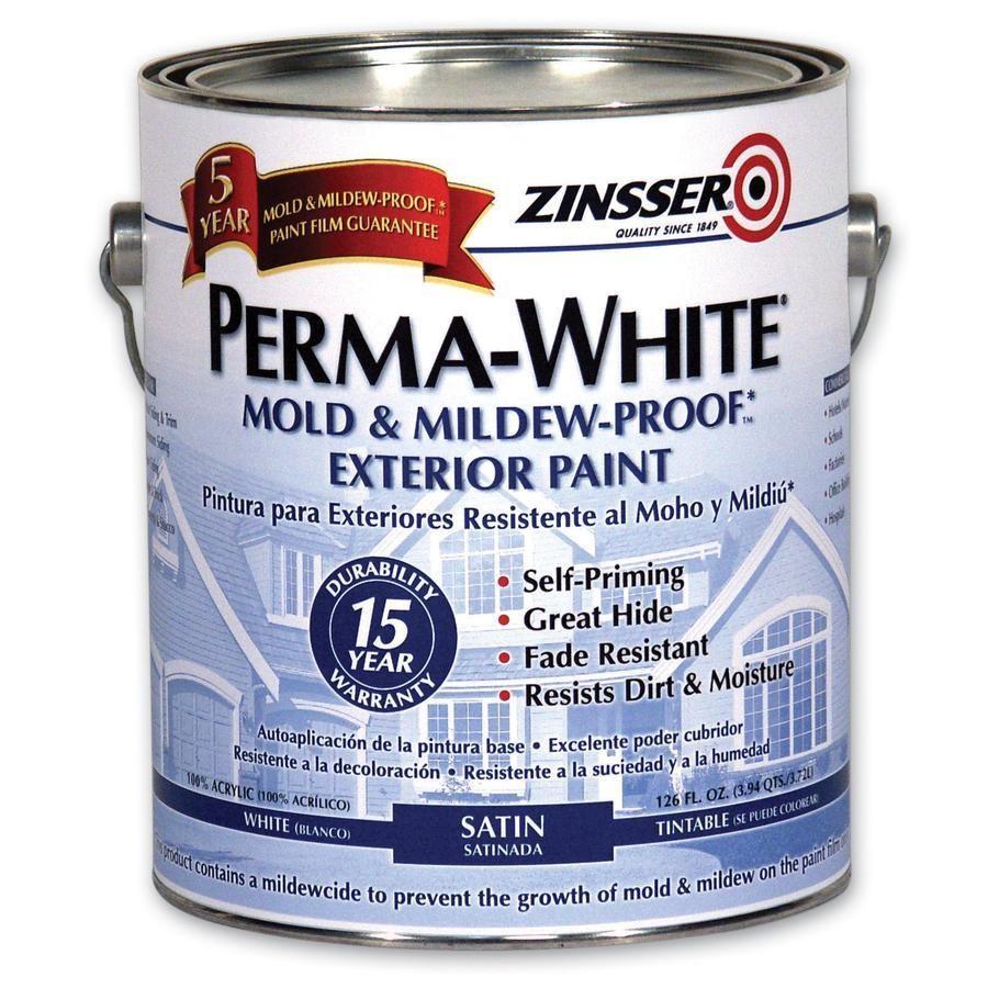Zinsser 03101 Perma White Mold Mildew Proof Exterior Acrylic