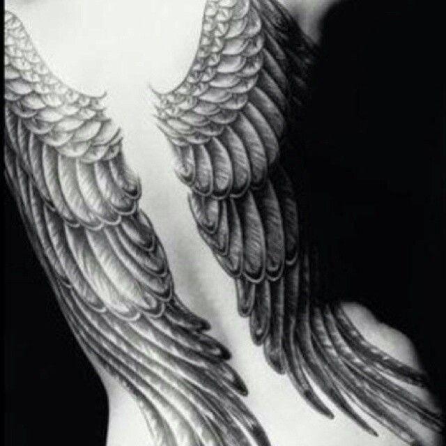 for angel tattoo women Full wings back