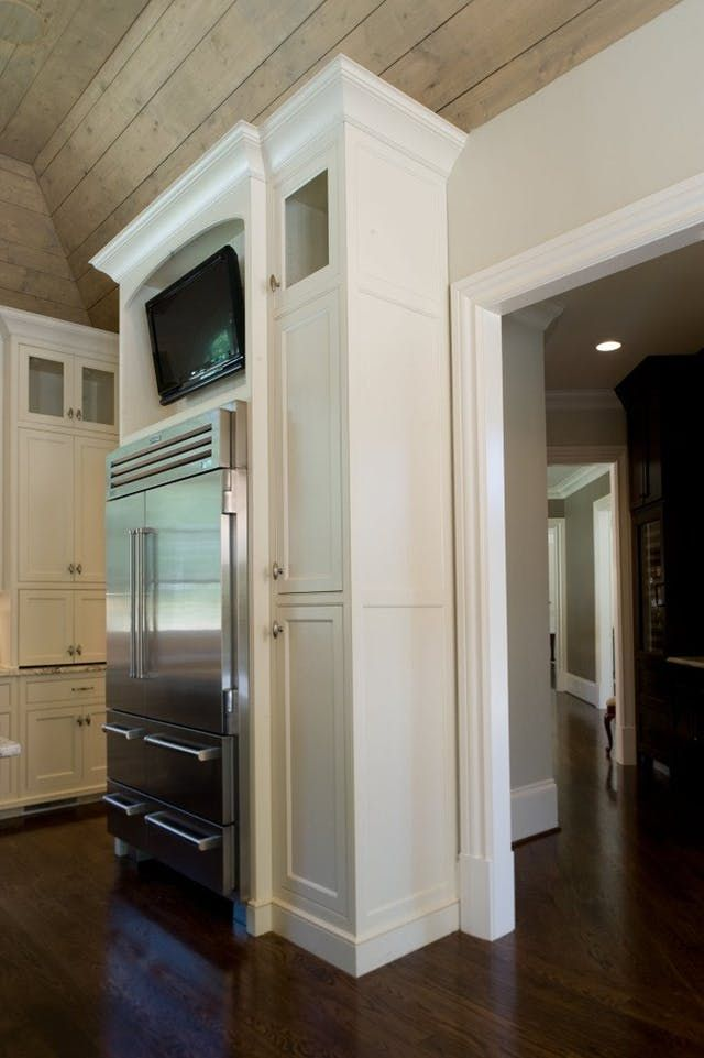 Ideas for Using that Awkward Space Above the Fridge | Tv ...