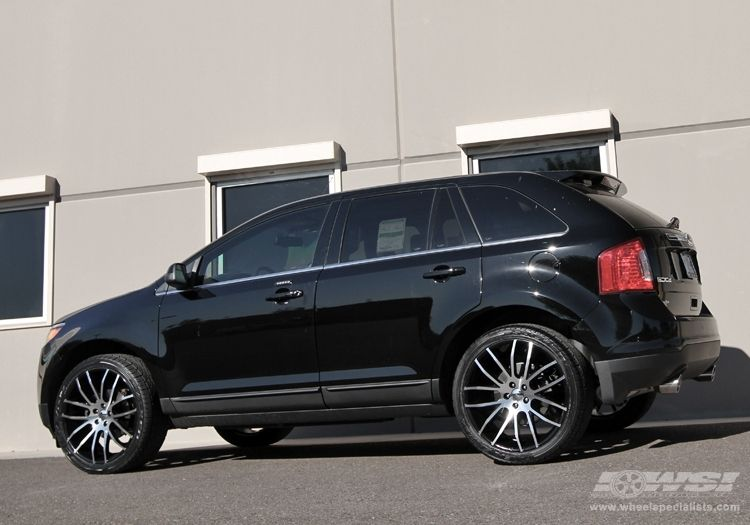 2012 Ford Edge With 22 Giovanna Kilis In Machined Black Wheels