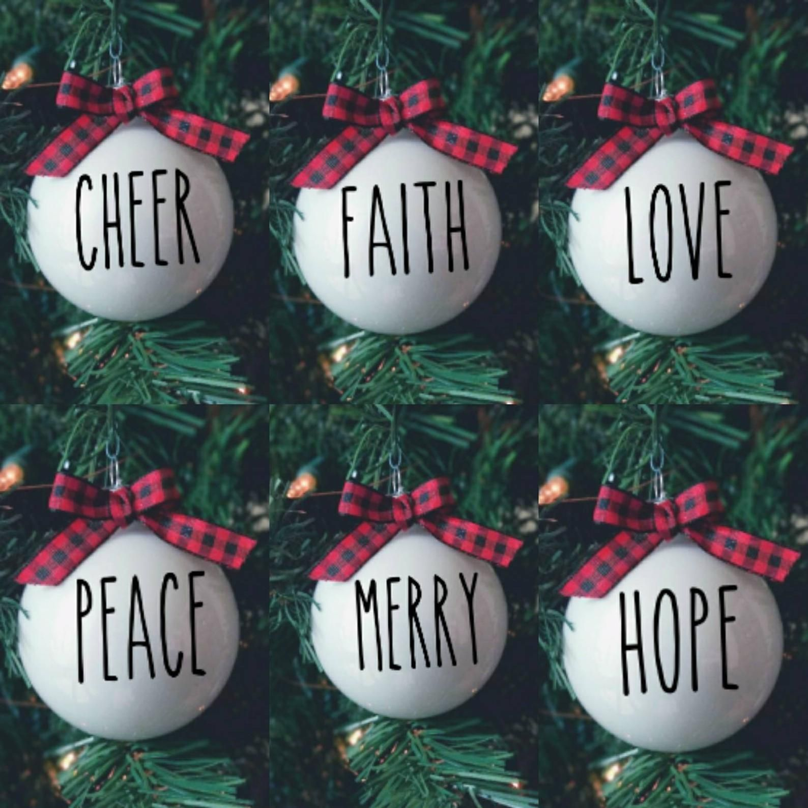 Black White Ornament Set Etsy White Ornaments Christmas Tree Crafts Family Christmas Pictures