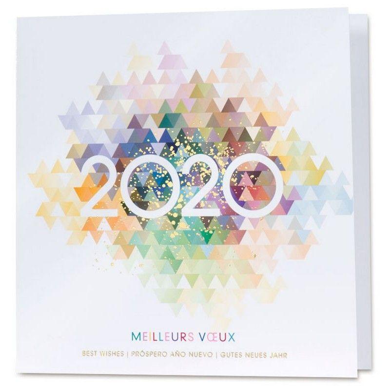 carte meilleurs voeux 2020 title} (avec images) | Carte de voeux, Carte de voeux entreprise