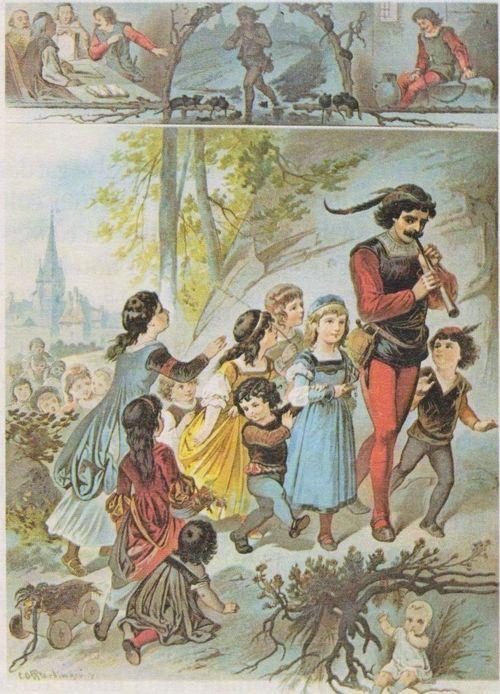 Le Joueur De Flute D'hamelin : joueur, flute, d'hamelin, Joueur, Flûte, Hamelin, (conte, Allemand), Fairy, Tales,, Fairytale, Illustration,, Tales
