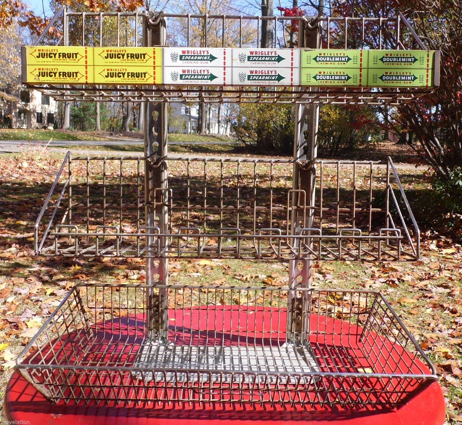 Vintage Wrigley S Gum Display Rack From Mobil Gas Station Upstate New York Wrigley Gas Station Upstate New York
