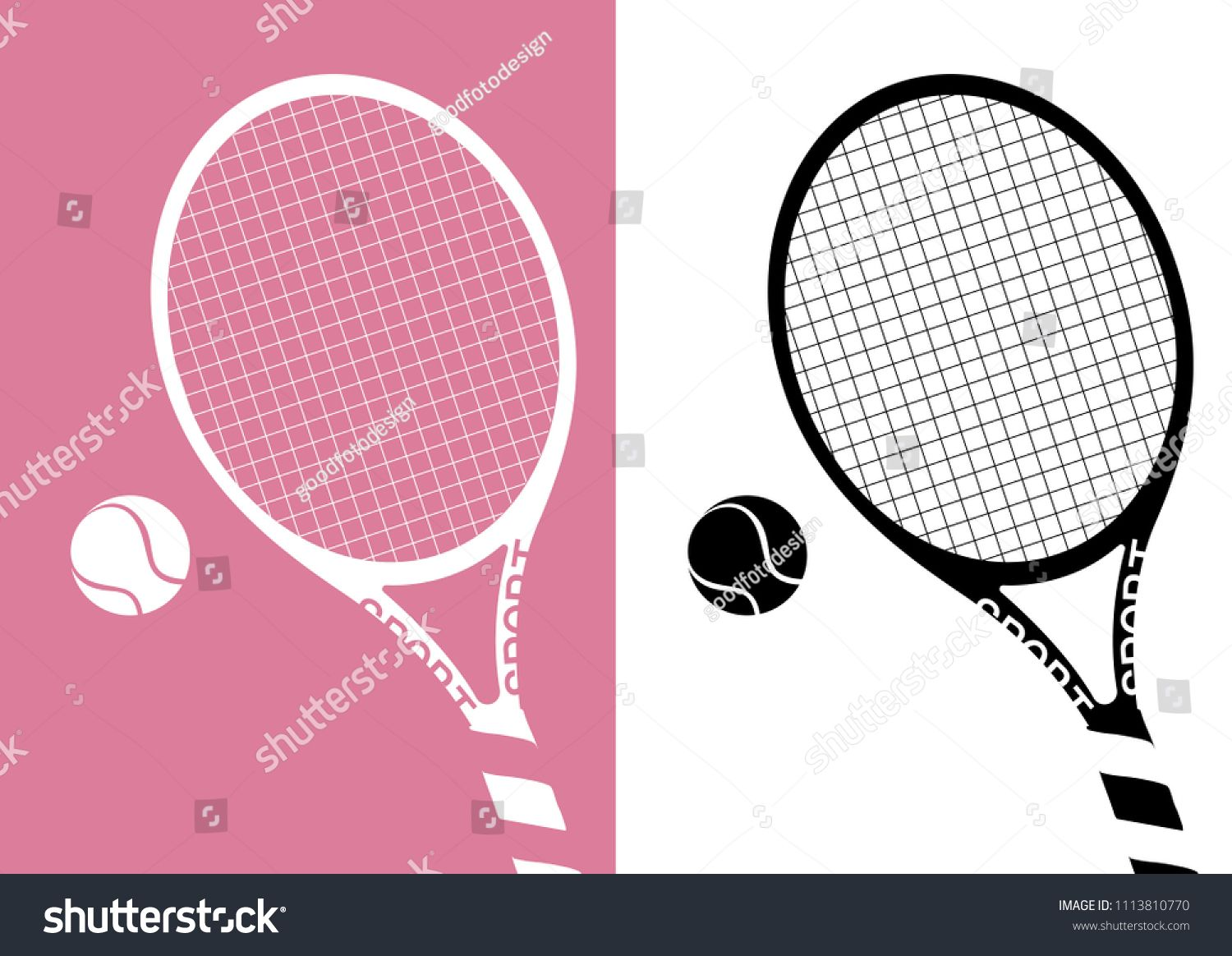 Silhouette Tennis Racket And Ball Icon On Pastel Pink Background Illustration Ad Sponsored Racket Ball Silhouette T Tennis Racket Rackets Pink Background