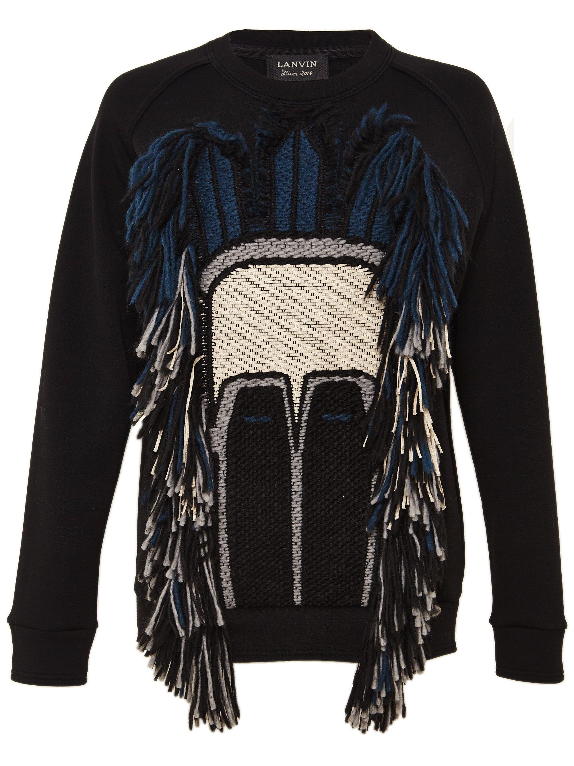 Lanvin Womens Tribal Sweatshirt | LN CC | Sweatshirts