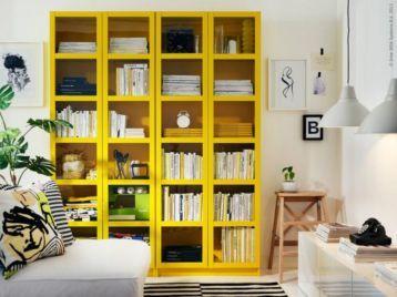ikea billy geel boekenkast gele vitrine kasten boekenkasten marktplaatsnl