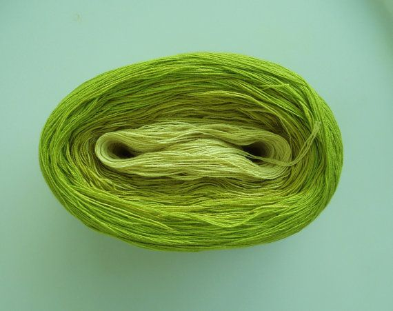 BARTLETT -Mega Skein- Color Changing Cotton yarn  865 yds/180 gr  Fingering Weight. $31.00, via Etsy.
