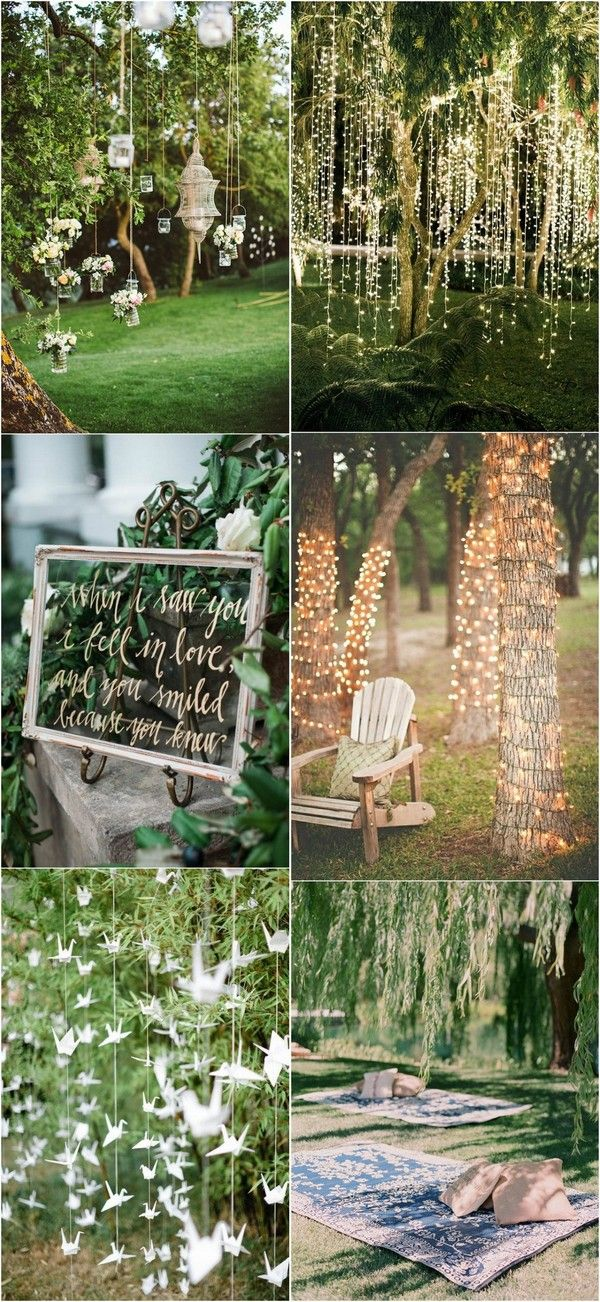 25 Brilliant Garden Wedding Decoration Ideas for 2018 Trends