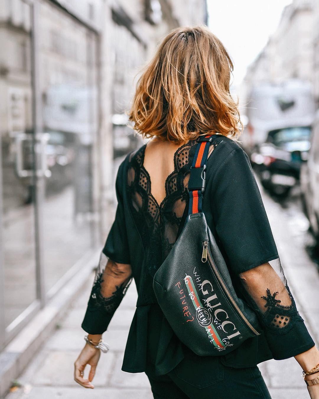 Banane gucci   lace top   style   Gucci handbags, Gucci, Style 31ae9404359
