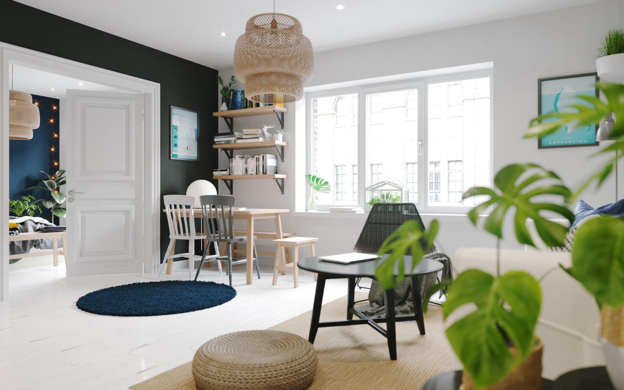 A small apartment boasts a scandinavian interior bliss in warsaw www essentialhome eu blog midcentury architecture interiordesign homedecor