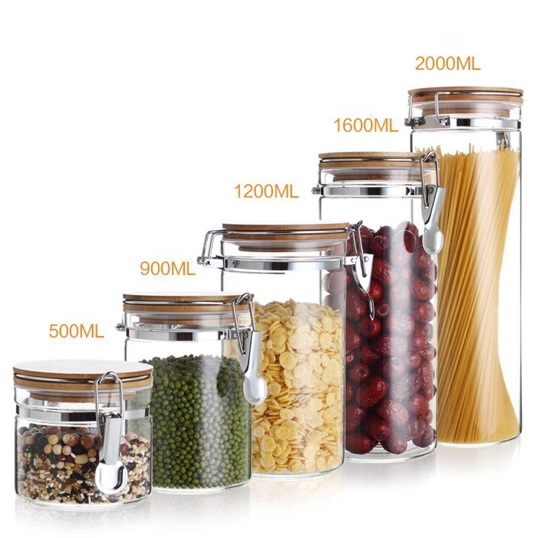 r cipient c r ales bocaux en verre bouteille de stockage de conservation pour nourriture s che. Black Bedroom Furniture Sets. Home Design Ideas