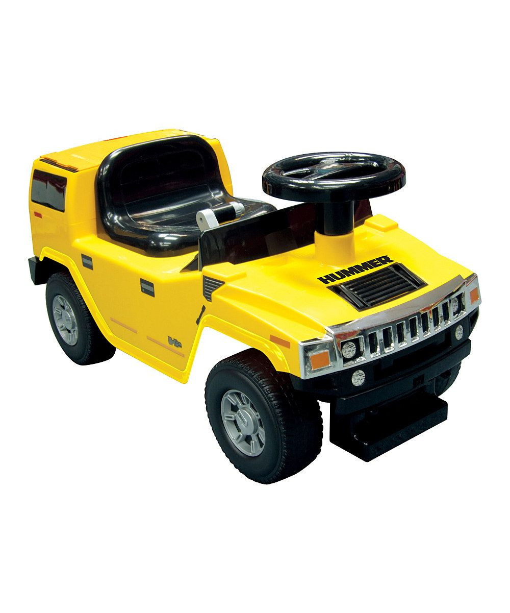 Hummer car toys  Yellow Hummer H FoottoFloor RideOn by Kid Motorz on zulily