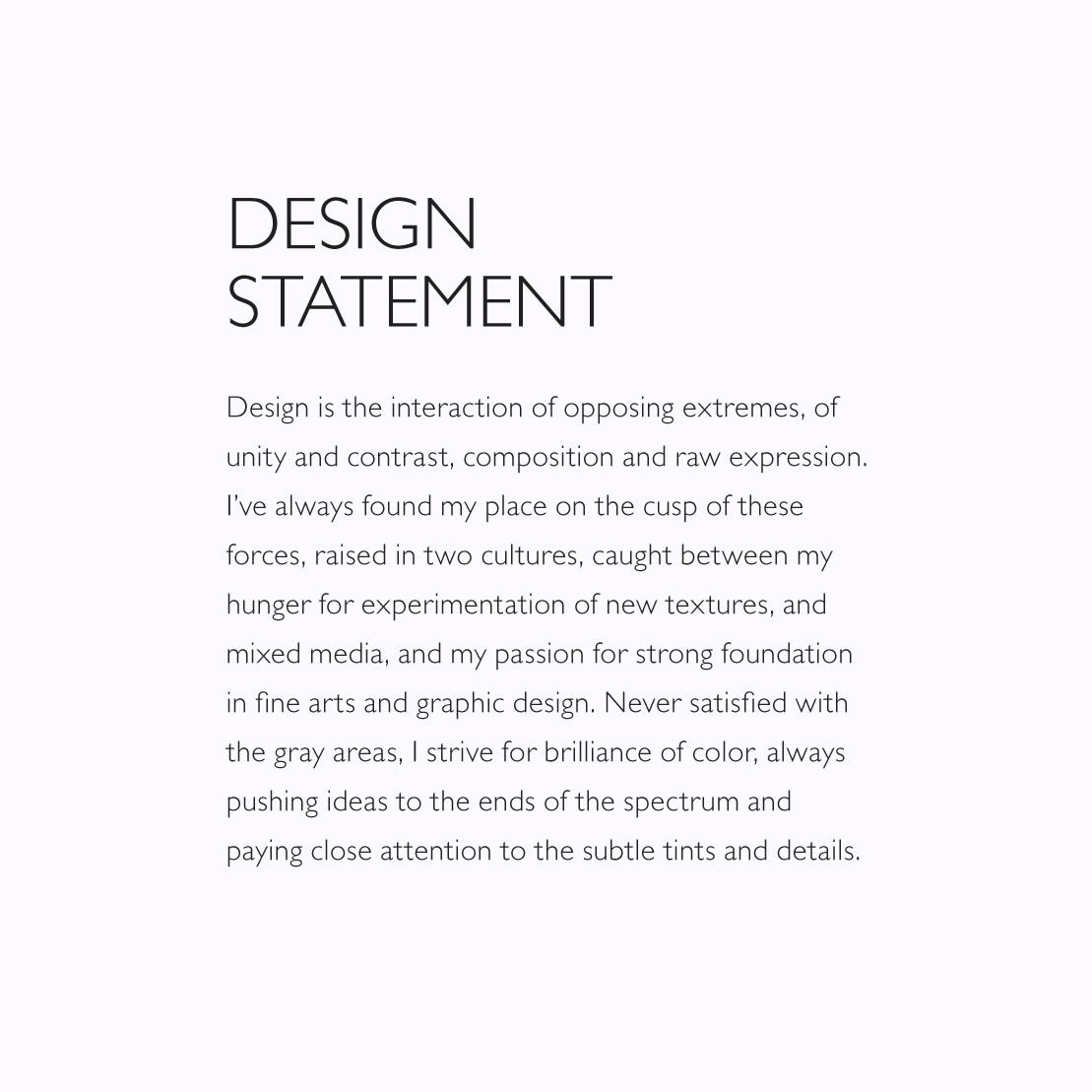 graphic design artist statement