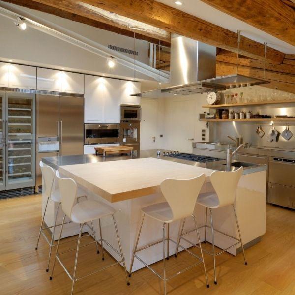 Private Penthouse Wohnung-Küchen Weiße-Möbel