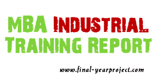Mba Industrial Training At Cham Synthropes Industries Pvt Ltd