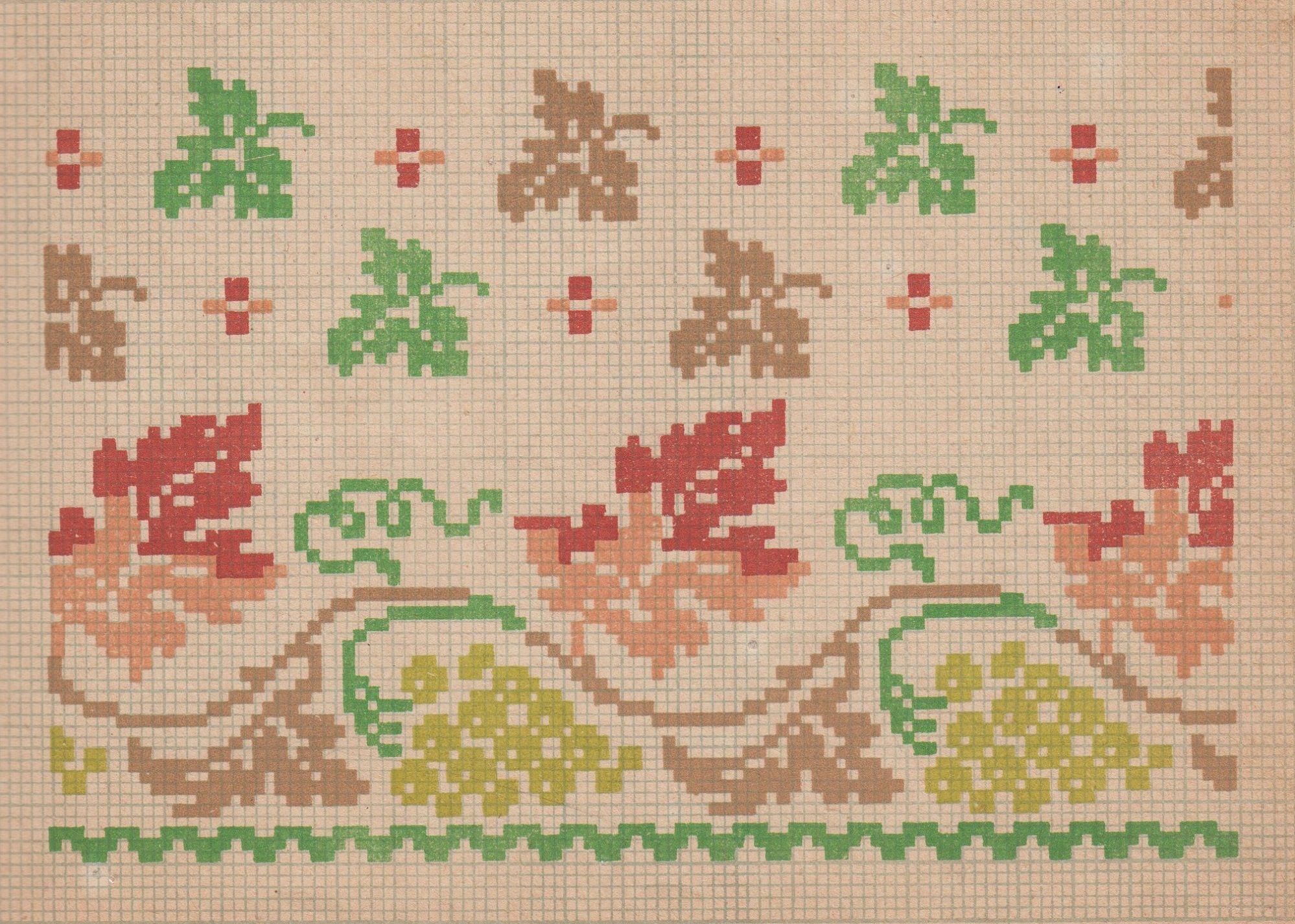 старинная схема вышивки крестом