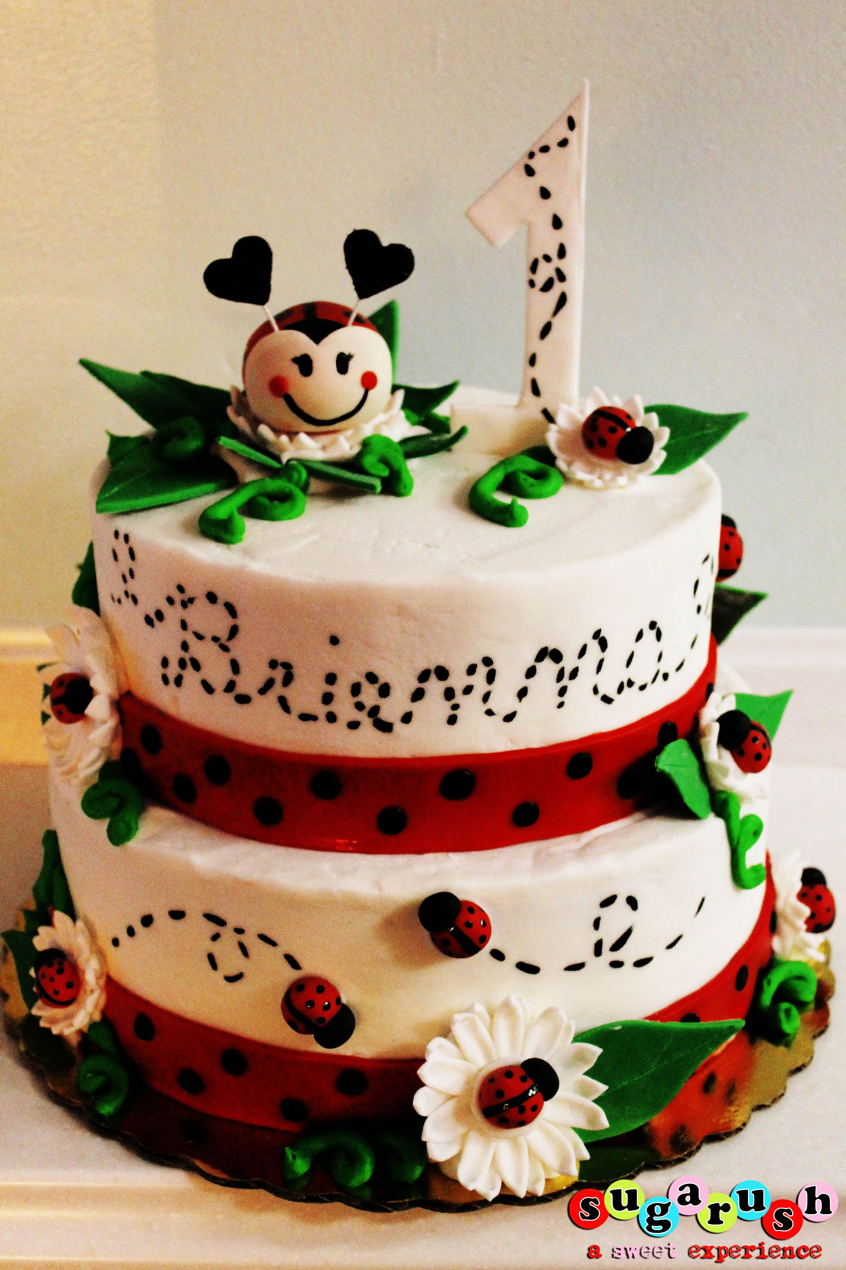 Lady Bug Cake Cathy should make this CAKES DE ABEJAS MARIQUITAS
