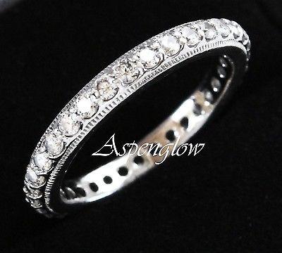 TACORI DIAMONIQUE EPIPHANY ETERNITY ROUND BEAD SET WEDDING BAND RING