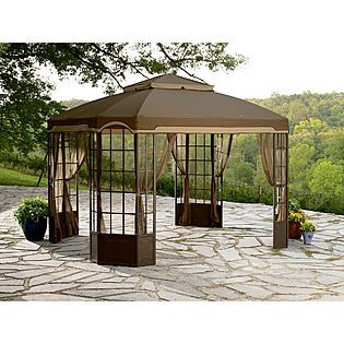Garden Oasis Bay Window Gazebo Sears So Far This Is My Favorite One For The Back Patio Canopy Outdoor Backyard Canopy Patio Canopy
