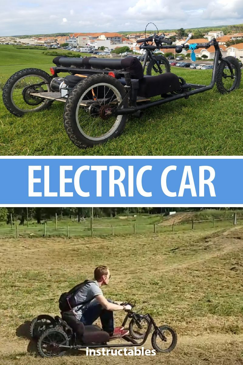 Make Your Own Electric Car That Can Go 36 Km H With Two Batteries Works Great On Lots Of Diffe Types Terrain Vehicle Electronics Technology