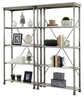 Home Styles The Orleans Three Multi Function Shelves Etagere   Transitional    Bookcases   By
