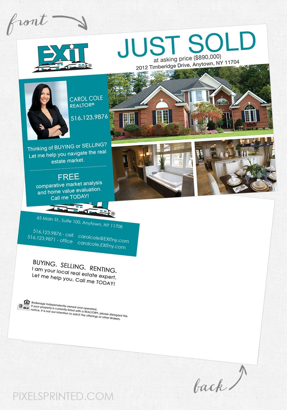 8.5x11 Newly Listed Flyer Template, Real Estate Listing ... |Real Estate Listing Paper