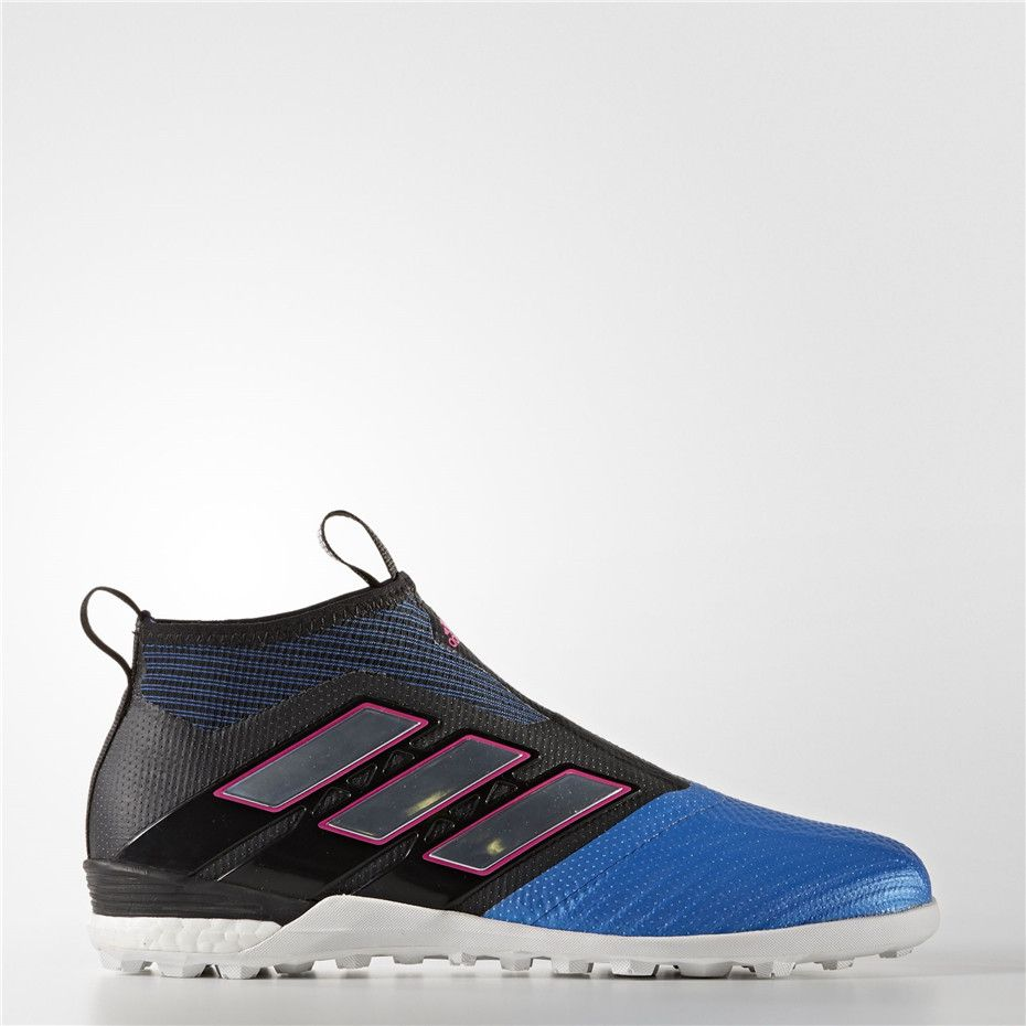 Adidas Ace Tango 17+ Purecontrol Turf Shoes (Core Black   Running White Ftw    Blue) ba5e98794