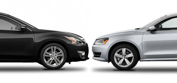 Nissan Altima Vs Volkswagen Passat Compare Cars Nissan Altima