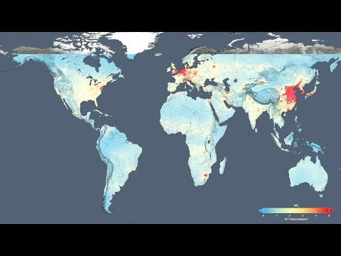 Nasa show human impact on climate with air pollution maps ...