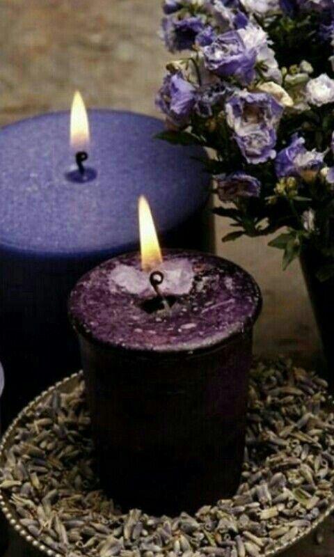 Violeta Lila Kerzen Schone Kerzen Kerzen Dekorieren