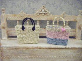 la stanza di giuggiola: borse di paglia - straw bags