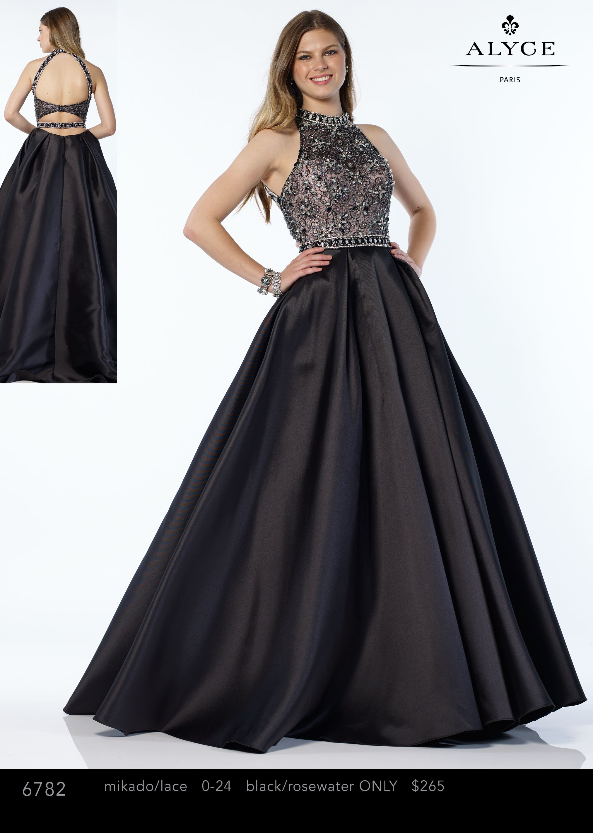 Exclusive Alyce Paris Style 6782 In Black/Ros e Size 6 | Prom ...