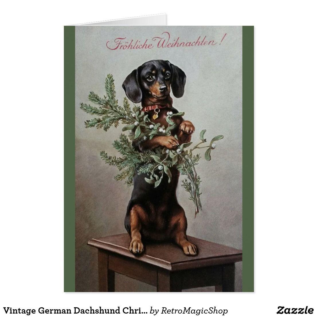 Vintage german dachshund christmas greeting card vintage vintage german dachshund christmas greeting card kristyandbryce Image collections