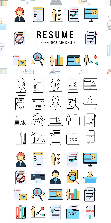Free icon set resume vector free icon set free icon