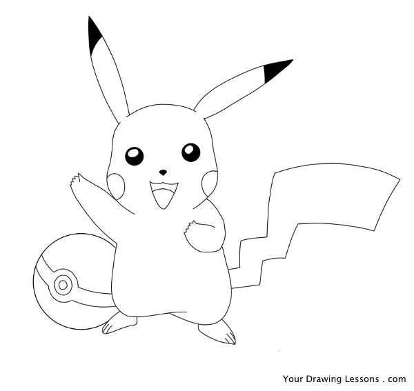 How to draw pikachu from pokémon