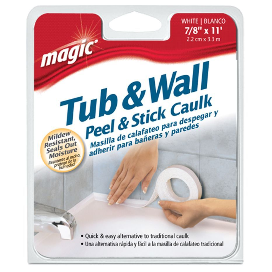 Magic 3014 7 8 White Tub Wall Bathtub Sealer Trim Kitchen Bath Caulk