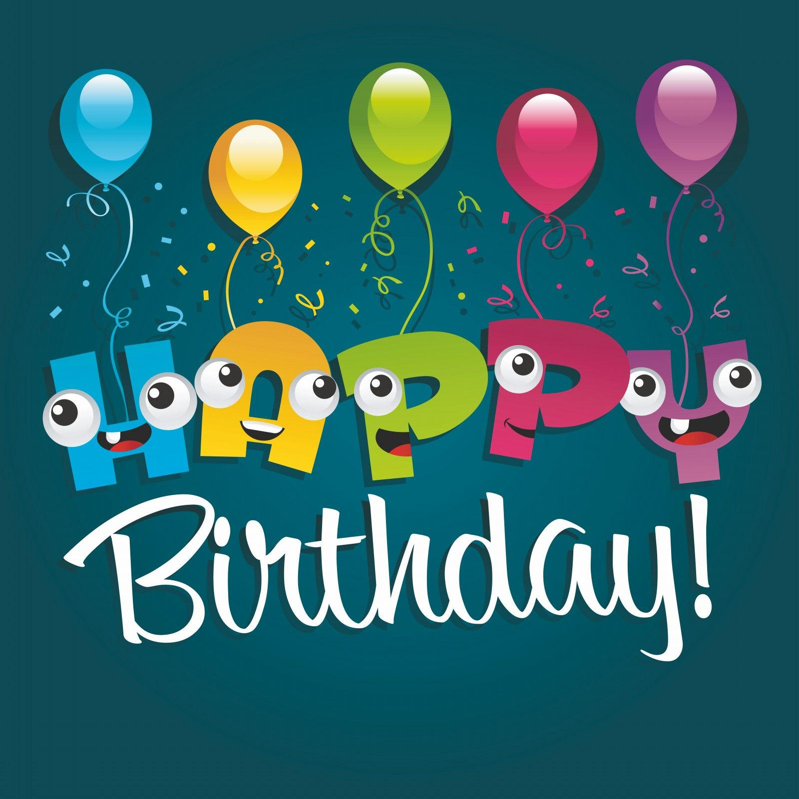 Happy Birthday Greeting Card Design Funny cartoon Characters24 – Send a Birthday Card Via Email