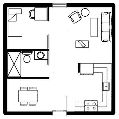 One bedroom apartment floor plan 500 sq ft google search studio ideas apartment floor - 500 sq ft apartment floor plan ...