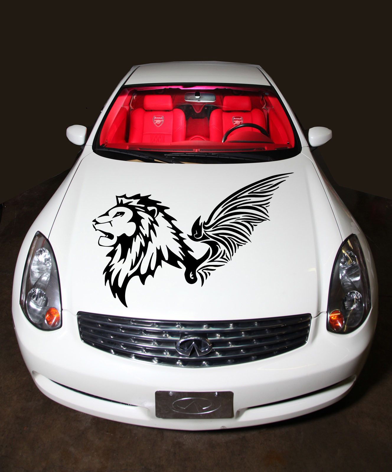 Free Shipping Buy Best CAR HOOD VINYL STICKER DECALS GRAPHICS - Car sign with wings